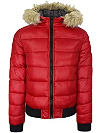 ca3cfe8c527a Brave Soul Womens Padded Quilted Puffa Jacket Faux Fur Hood Winter Coat  AW1718