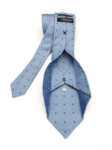 Real Luxury Napoli - Cravatta Brevettata AD MAIORA, In Edizione Limitata, Con Monile In Argento 925. Colore Celeste