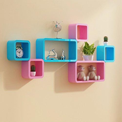MENA HOME/ Wandregale Kreative Trennwände Wohnzimmer Hintergründe Regal Schlafzimmer Schränke Gitter ( Farbe : Blue Pink )