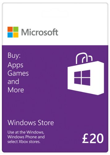 Price comparison product image Windows Store - 20 GBP Gift Card [Online Code]