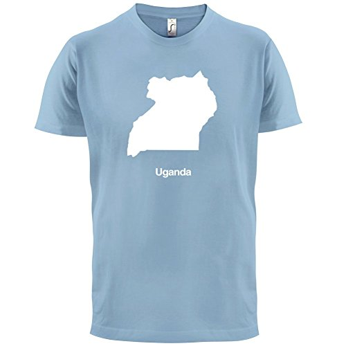 Uganda / Republik Uganda Silhouette - Herren T-Shirt - 13 Farben Himmelblau