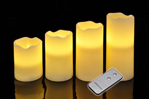 Haushalt International 55015 - Juego de 4 lámparas led (con mano a distancia), diseño de vela
