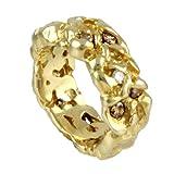 SKIELKA DESIGNSCHMUCK UNIKAT Diamant Ring Gold Goldschmiedearbeit (Gelbgold 585) - Goldring mit Diamant 1 Karat - Diamantring mit Expertise - Brillantring - Nuggetring
