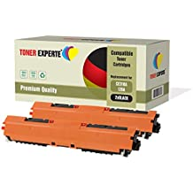 Pack 2 TONER EXPERTE® Compatibles CE310A / 126A Noir Cartouches de Toner pour HP Colour Laserjet CP1025 CP1025nw CP1020 M175a M175nw Pro 100 M175 MFP M175a M175nw M275 TopShot M275