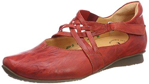 Think Menscha_282073, Zapatos de Cordones Derby para Mujer, Rojo (Rosso/Kombi 72), 40.5 EU