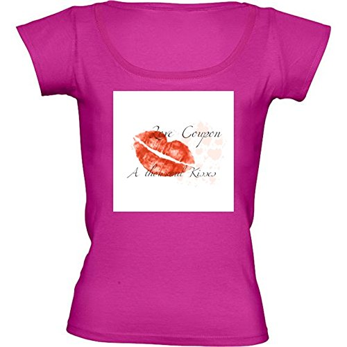 round-neck-fuschia-pink-t-shirt-for-women-large-size-love-coupon-by-utart