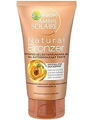 Garnier Ambre Solaire Selbstbräuner Natural Bronzer / Selbstbräunungs-Gel mit feuchtigkeitsspendender Wirkung, 1er Pack - 150 ml