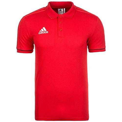 adidas Herren Tiro 17 Cotton Poloshirt, Scarlet/Black/White, L (Adidas Rot Polo-shirt)