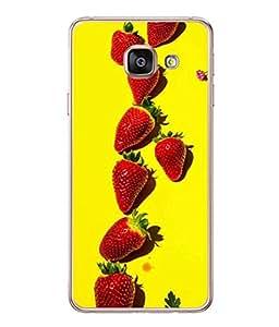 PrintVisa Designer Back Case Cover for Samsung Galaxy A5 (6) 2016 :: Samsung Galaxy A5 2016 Duos :: Samsung Galaxy A5 2016 A510F A510M A510Fd A5100 A510Y :: Samsung Galaxy A5 A510 2016 Edition (Pattern designed multi colours strawberry)