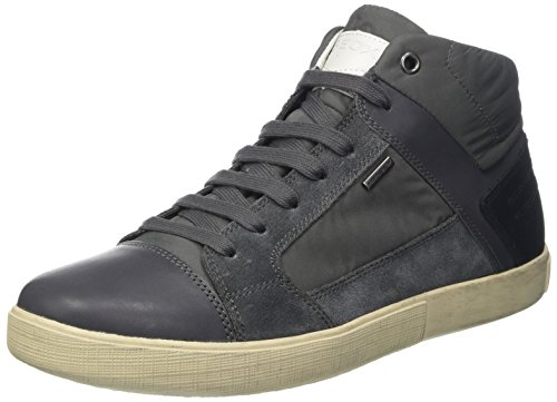 Geox U Taiki B Abx D, Sneakers Hautes Homme Gris (Charcoal/Navyc9878)