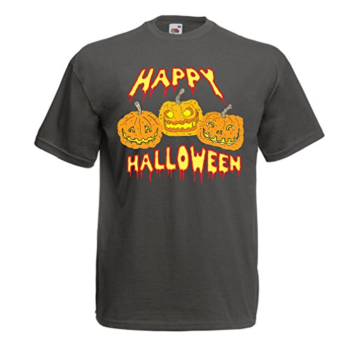 Männer T-Shirt Happy Halloween! Party Outfits & Costume - Gift Idea (X-Large Graphit (Mama Kostüme Diy)