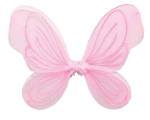 Karneval Zubehör Flügel in rosa zum Fee Elfe Kostüm an ()