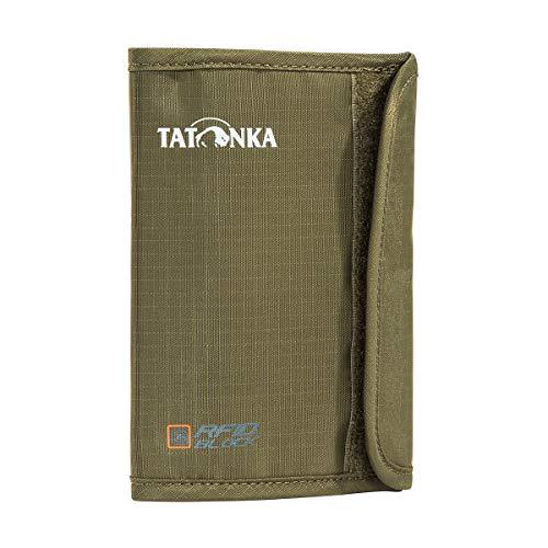 Tatonka Passport Safe RFID B Dokumententasche, Olive, 10,5 x 14,5 x 1 cm Olive Wellen