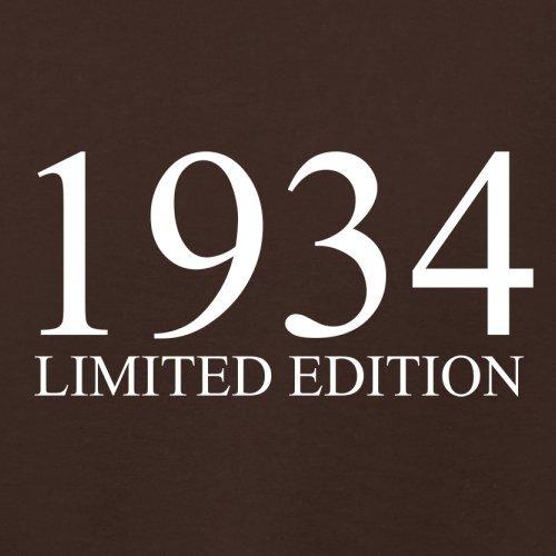 1934 Limierte Auflage / Limited Edition - 83. Geburtstag - Damen T-Shirt - 14 Farben Dunkles Schokobraun