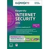 Kaspersky internet security 2015 (5 postes, 1 an) - édition limitée