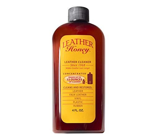 Lederreiniger von Leather Honey: Der beste Lederreiniger für Vinyl- und Lederbekleidung, Möbel, Autoinnenausstattung, Schuhe und Accessoires. Die konzentrierte Formel entspricht 32 Unzen, wenn es verdünnt wird