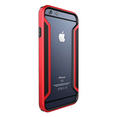 iPHONE 6 PLUS / 6S PLUS - SLIM ARMOR BORDER CASE [ ROT ] - HIGH TEC BUMPER - Cover, Hülle, Rahmen, powered by i-tecfox rot
