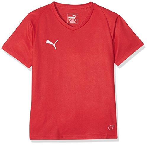 PUMA Kinder Liga Core Jersey, Red White, 128 (- Sport-kleidung Jungen Für)