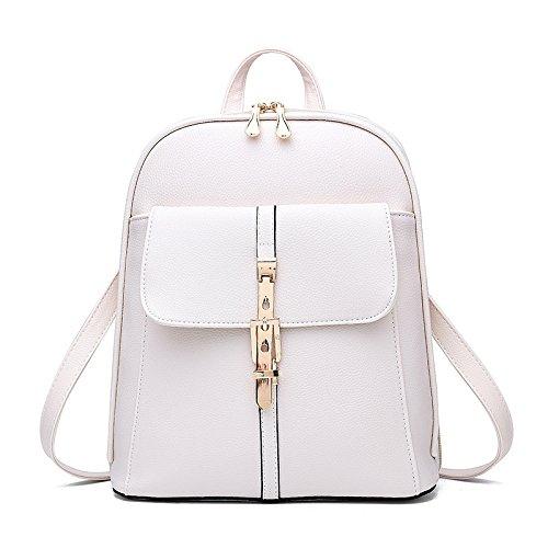 Mefly Tutti-Match Inverno Scuola Studente Sacco Bag Rosa white