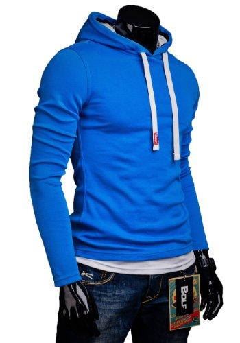 BOLF – Felpa con cappuccio - Le maniche lunghe – BOLF 03 – Uomo Blu