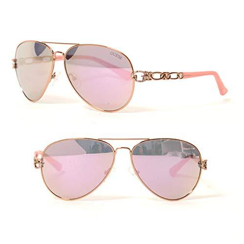 Guess Damen GF6044-6228U Sonnenbrille, Pink (Rosa), 62.0