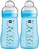 MAM 99957411 - Easy Active Baby Bottle 270 ml,Doppelpack für Jungen, Design sortiert