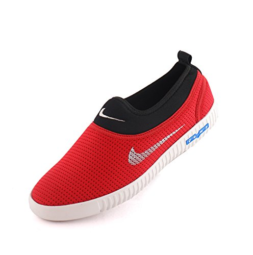 AORFEO Unisex Black Red Men and Women Casual Sport Running Shoes and Leather Look Sneaker Shoe Shoes CX25 (10)