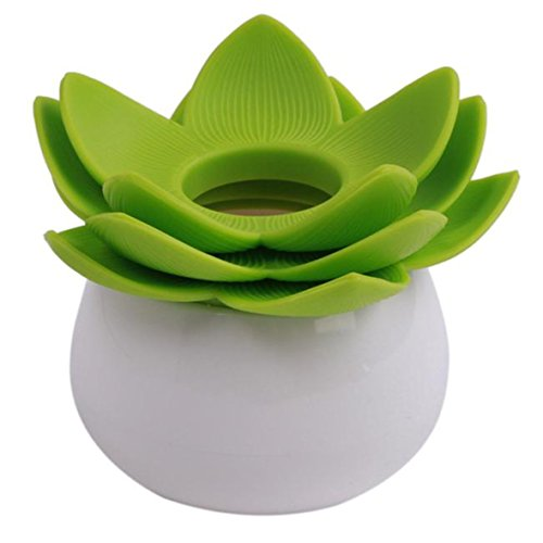 LnLyin Lotus Flower Cotton Bud Cosmetic Brushes Ball Holder Container Test