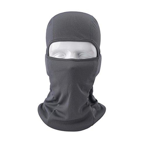 VERTAST Sturmhaube Balaclava, super Dehnbare atmungsaktive Sport Maske für Outdoor-Skifahren Radfahren Motorrad Helm Wandern Camping Nackenwärmer, grau