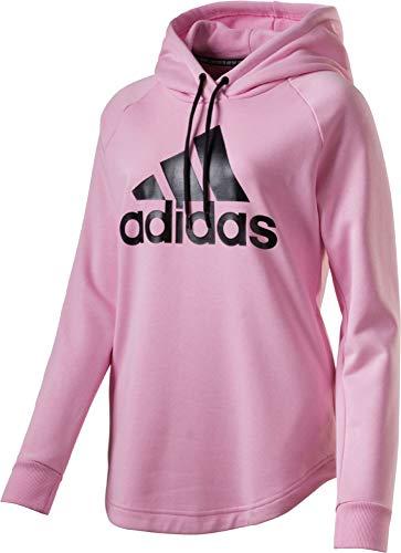 adidas Damen Must Haves Badge of Sport Hooded Sweatshirt, True Pink, Größe S Hooded Terry Pullover