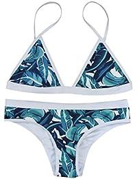 Rawdah Mujeres 2017 Push-up acolchado Bra Bandage Bikini Set traje de baño Triangl Swimwear