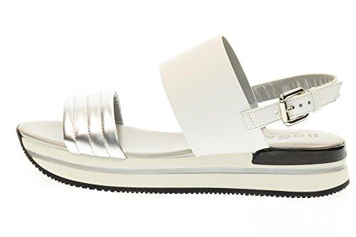 HOGAN scarpe donna sandali HXW2570X750EZ50906 H257 FASCIA Bianco-argento