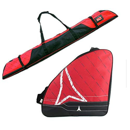 JZFUKSP Snowboard- und Schuhtasche Combo - Skitasche Combo Bis zu 165 cm für Aufbewahrung und Transport Snowboard für Reisen für Herren, Damen und Jugendliche, Rot