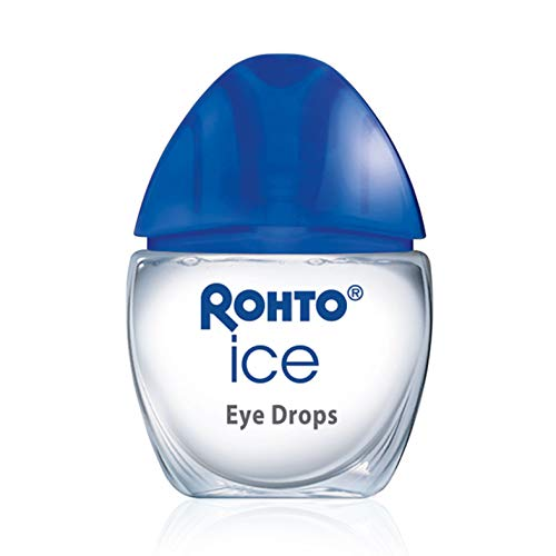Rohto Ice All-in-one, Multi-Symptom Relief Cooling Eye Drops, 0.4 Ounce, 3 Count