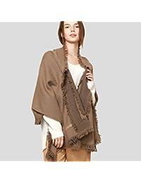 2235a6e44a68 Écharpes laine hiver mode nouveau haut de gamme treillis double long  luxueux impression super doux glands