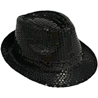 Michael Jackson Sequin Fancy Dress Fedora Trilby Hat (gorro/sombrero)