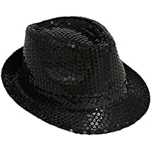 Michael Jackson Sequin Fancy Dress Fedora Trilby Hat (gorro sombrero) 09fa558fa5e4