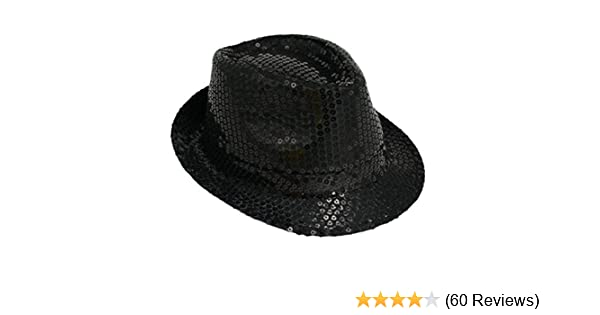 Michael Jackson Sequin Fancy Dress Fedora Trilby Hat  Amazon.co.uk  Toys    Games fa5f68958cc