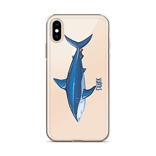 blitzversand Handyhülle Angeln Fisch Fish See Meer kompatibel für iPhone 6 / 6s Hai Shark Fisch Angeln Schutz Hülle Case Bumper transparent rund um Schutz Cartoon M16 (Shark Cartoon Case 6 Iphone)