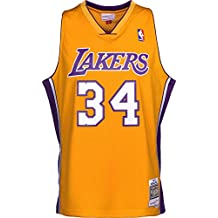Mitchell & Ness Shaquille O Neal 1999 Los Angeles Lakers Home Replica Swingman NBA Jersey HWC