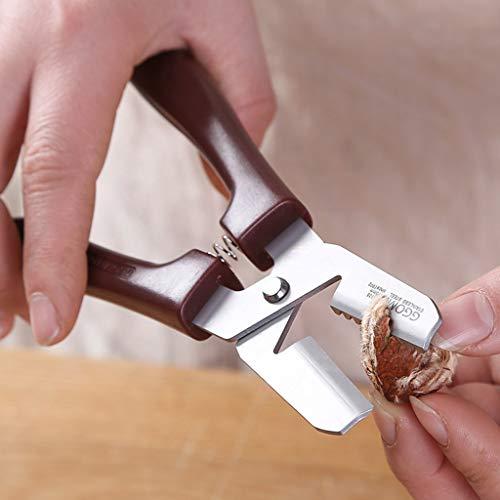 TeasyDay Multifunktionaler Kastanien-Nussknacker Walnusskern Mandel, hochwertiges Aluminium-Küchenwerkzeug, 18 x 6,5 cm, Vollmetallmaterial, langlebig, leicht und arbeitssparend -