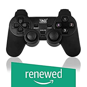(Renewed) Tag Gamepad G10 - with Double-2-Shock Controller Vibrator (Black)