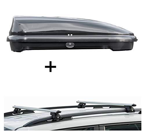 vdp Box Tetto VDPFL320 320 320 Litri Nero Lucido + Barre Portapacchi CRV120 Compatibile con Suzuki Ignis (5 Porte) dal 2016
