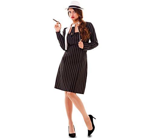 Fyasa 706264-t04Gangster Girl Kostüm, groß (Mafia Kostüm Weiblich)