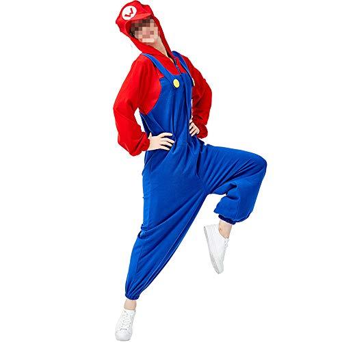 Halloween kostüm, Halloween Cosplay kostüm Halloween Cosplay Horror Kostüm,rote Und Grüne Klempner Lose Siamesische Kostüm Spiel Kostüm Cosplay - Halloween Klempner Kostüm