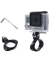 XCSOURCE® Schwarz Fahrrad Fahrrad Motorrad Aluminium Lenkstange Ausrüstung Lenkerhalter Adapter für GoPro Hero 2 3 3 + 4 SJ4000 SJ5000 OS39