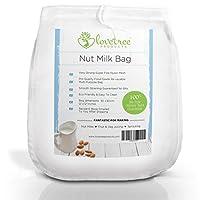 Sac de lait de noix très solide disponible, ce nouveau design vous permettra de préparer du délicieux lait d'amande crémeux avec un seule filtrage. Ce sac de taille XL à maille fine mono filament vous donnera d'excellents résultats à chaque fois, c'e...