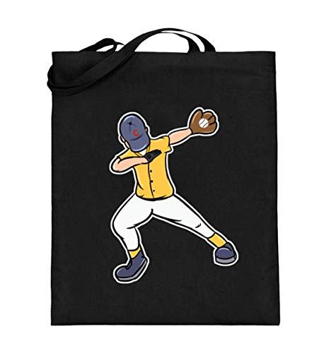 Dabbing Dab Baseball Spieler Boy Cap Kappe Trikot Handschuh Mannschaft Sport Ball Geschenk - Jutebeutel (mit langen Henkeln)