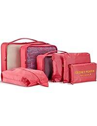 Organizador de Viaje Bolsa De Almacenamiento–wantgor, 6piezas/–Juego de cubos de embalaje equipaje bolsas de compresión