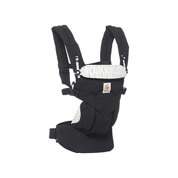 Ergobaby Babydraagzak 360 Sunrise Downtown Ergobaby 4 ergonomic carry positions: front-inward, front-outward, hip, & back Weight range: 12- 33 lbs. (from 7-12 lbs. with infant insert, sold separately) Ergonomic seat for baby, adjustable for forward-facing 1